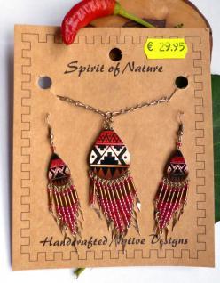 Schmuckset Indianer (Kette und Ohrhänger)
