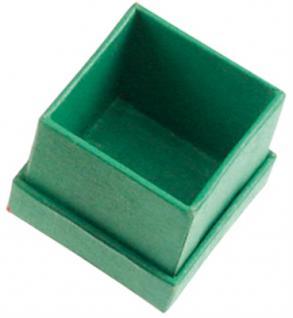 Schmuckschachtel, grün, 3, 5 x 3, 5 cm