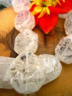 Bergkristall Crashed Crystal Achteck flach, einzeln - Vorschau 2