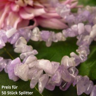 Lavendel-Amethyst Splitter (gerundet), gebohrt, 50 Stück