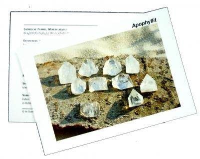 Infokarte / Mineralienkarte Apophyllit