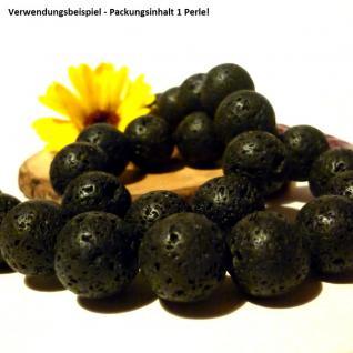 Lava schwarz, Kugel 16 mm, 1 Stück - Vorschau 2