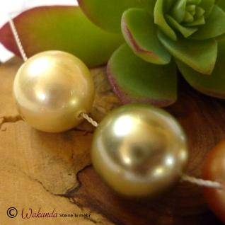 Perle (Muschelkern) 14 mm, gebohrt, 1 Stück - Vorschau 3