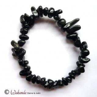 Armband Schörl (schwarzer Turmalin), Splitterarmband auf Gummiband - Vorschau 1