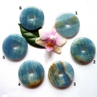Donut Aragonit blau ca. 40 mm