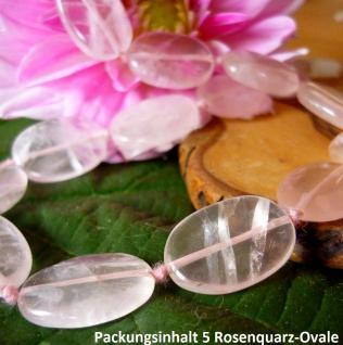 Rosenquarz ovale Platte, 20 x 15 mm, 5 Stück