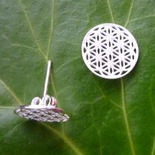 Ohrstecker Blume des Lebens 11 mm Silber 925