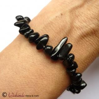 Armband Schörl (schwarzer Turmalin), Splitterarmband auf Gummiband - Vorschau 3