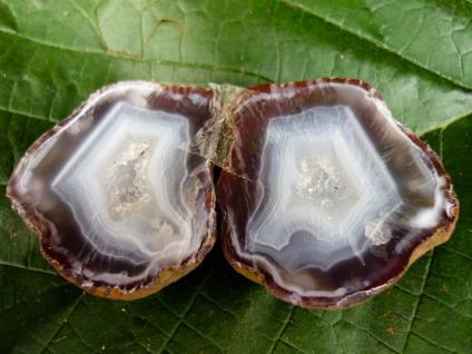 Achatdruse Condorachat, poliertes Paar - Vorschau 1