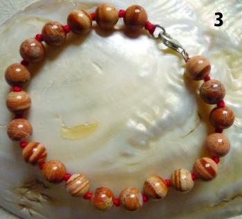 Kugelarmband Jaspis (roter Jaspis) - Vorschau 3