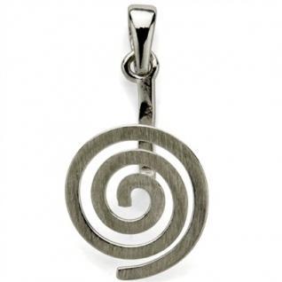 Donuthalter Spirale matt, echt Silber