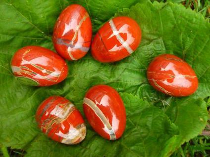 Edelstein-Ei Jaspis rot, klein (1 Stück)