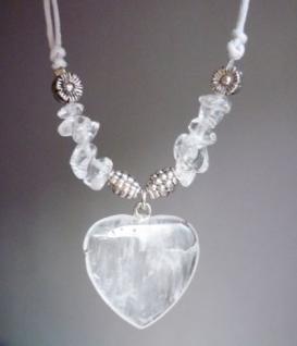 Halskette / Herz-Collier Bergkristall - Klarheit und Aufmerksamkeit