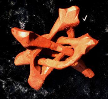 Cobra-Ständer für Steinkugeln, Holz handgeschnitzt