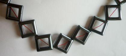 Hämatin Quadrat offen 18 x 18 mm, Strang