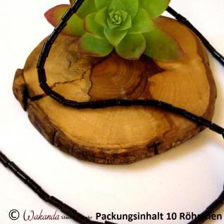 Koralle schwarz Röhrchen mini 6 mm, 10 Stück
