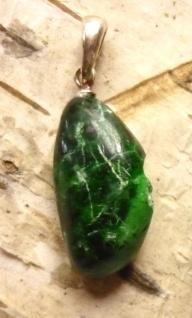 Maw-Sit-Sit Jade Anhänger mit Silberöse