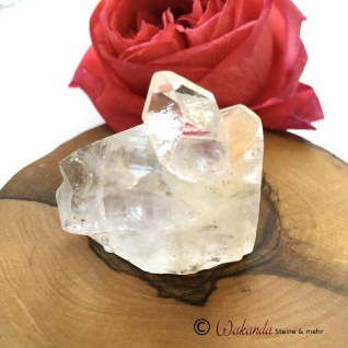 Apophyllit Spitze mit Stilbit, Rohkristall