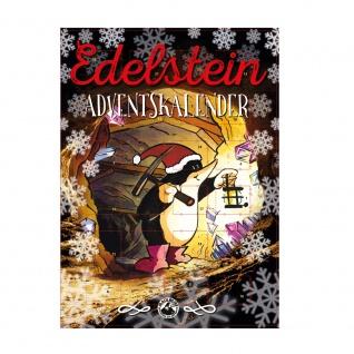 Edelstein-Adventskalender mit Trommelsteinen