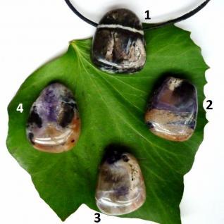 Tiffany Stone (Fluorit Opal), gebohrter Trommelstein-Anhänger