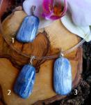 Disthen (Cyanit) Anhänger mit Silberöse