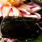 Obsidian Platte gebohrt 3, 5 x 2, 5 cm, Stück