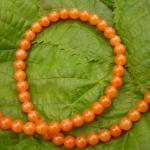 Aventurin orange, Kugeln gebohrt 6 mm, 10er Pack