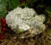 Pyritstufe A-Qualität mit Quarz