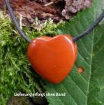 Anhänger Herz Jaspis rot