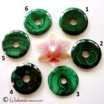 Donut Malachit 40 mm
