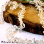Herkimer Diamant (Bergkristall) Doppelender, Strang
