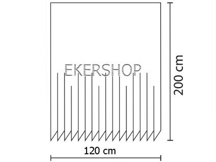 Textil DUSCHVORHANG 120x200cm Bambus Mit Stein Weiß Grün inkl. Ringe - Vorschau 4