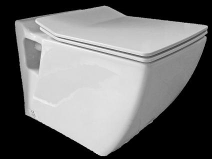Hänge Wand Dusch Wc Eckig Taharet Bidet Taharat Toilette Creavit TP324 mit flach Düse inkl. Soft-Close Wc Sitz