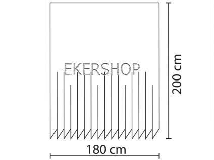 """EDLER Textil Duschvorhang 180 x 200 cm """"GRÜNER GARTEN"""" Grün Weiss inkl. Ringe - Vorschau 4"""