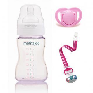 Mamajoo PINK Kleines Geschenk Set 250ml Flasche Schnuller 0+ & Band - Vorschau 2