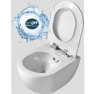 Randlos Hänge Wand Dusch Wc Taharet Bidet Taharat Toilette Creavit FAVORI mit flach Düse inkl. Soft-Close Wc Sitz - Vorschau 2