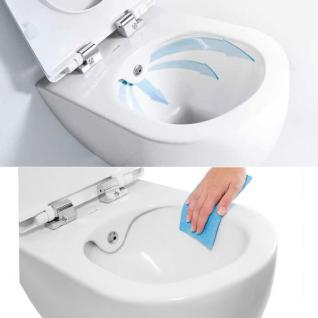 Spülrandlos Hänge Wand Dusch Wc Taharet Bidet Taharat Toilette Creavit FAVORI322 mit flach Düse inkl. Absenkautomatik Wc Sitz - Vorschau 4