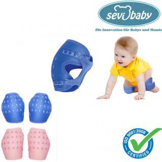 Sevibaby BLAU Baby Knieschützer Knieschoner Krabbelhilfe Knieschutz 129-1