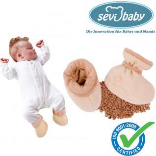 Sevibaby Baby Schühchen mit Kirschkernen Alternative Kirschkernkissen Kirschkern