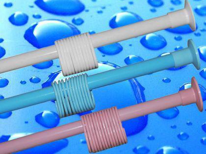 Duschvorhangstange 120 - 210 cm Grau Metallic Teleskopstange Klemmstange NEU - Vorschau 2