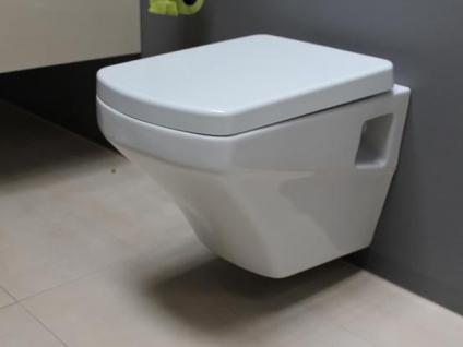Hänge Wand Dusch Wc Eckig Taharet Bidet Taharat Toilette Creavit SR320 mit flach Düse inkl. Soft-Close Wc Sitz