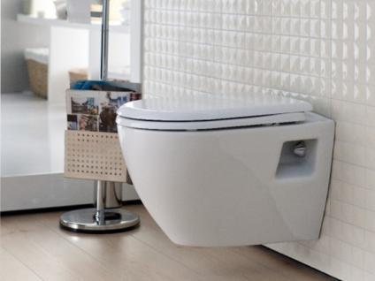 Hänge Wand Dusch Wc Taharet Bidet Taharat Toilette Creavit TP325 mit flach Düse inkl.Soft-Close Wc Sitz