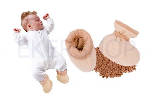 Sevibaby Baby Schühchen mit Kirschkernen Alternative Kirschkernkissen Kirschkern - Vorschau 2