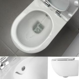 Randlos Hänge Wand Dusch Wc Taharet Bidet Taharat Toilette Creavit FAVORI mit flach Düse inkl. Soft-Close Wc Sitz - Vorschau 5