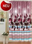 "Textil DUSCHVORHANG 120x200cm ""Ranke Bordeaux"" Bordeau Rot Weiss Blau Braun Violette inkl. Ringe"