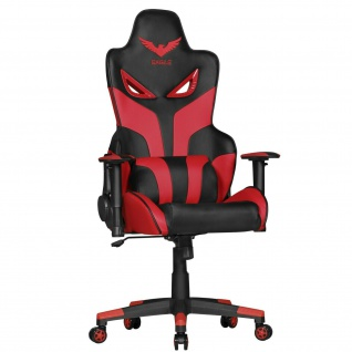 Bürostuhl rot Chefsessel Racing Rennsitz Optik Gaming Gamer Sessel Drehstuhl