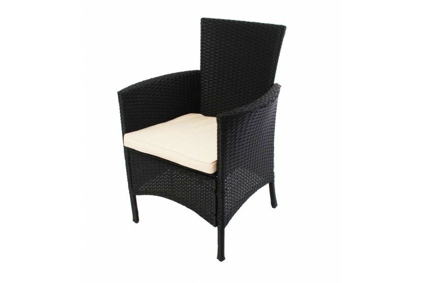 gartenstuhl stuhl polyrattan anthrazit korbsessel alu garten sessel kissen kaufen bei madera. Black Bedroom Furniture Sets. Home Design Ideas