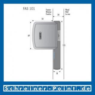 ABUS FAS 101 Fenster-Bandseitensicherung weiß, 244902, 244919, EAN 4003318244902, 4003318244919 - Vorschau 3