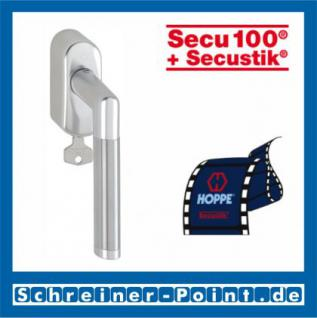 Hoppe Amsterdam Aluminium-Edelstahl Fenstergriff abschließbar F1-F69 Alu Natur - Edelstahl matt Secu100 + Secustik 1400/US950S (100 Nm), 2547691, 2547704 - Vorschau 1