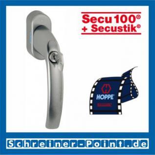 Hoppe Atlanta Aluminium Fenstergriff abschließbar F9 Stahl Secu100 + Secustik 0530S/US952 (100 Nm), 2257934, 2257977, 2258013
